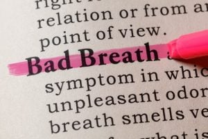 bad breath highlighted in fake dictionary